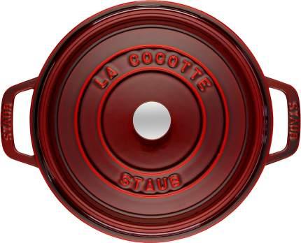Кокот круглый, 26 см, 5,2 л, гранатовый