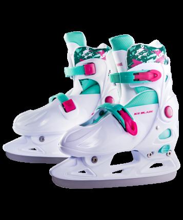 Коньки прогулочные Ice Blade Bonnie белые/зеленые/розовые, 41-43