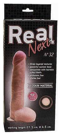 Большой фаллоимитатор из неоскин на присоске REAL Next №32 24,5 см