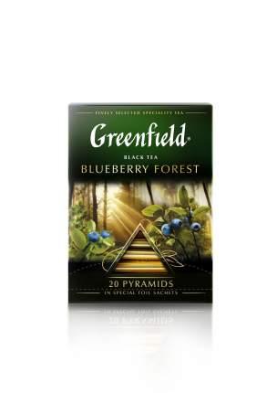 Чай черный Greenfield в пирамидках blueberry forest 20 пакетиков