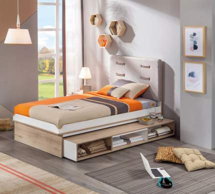 Кровать выдвижная Cilek Dynamic 120х190 см, бежевый