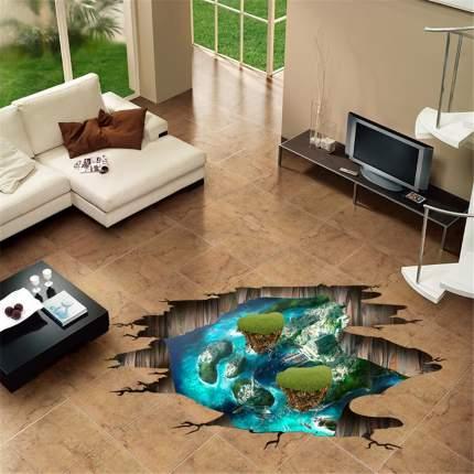 Наклейки на стену Водный мир Острова 60х90 см Animal World