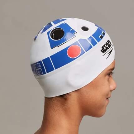 Шапочка для плавания Speedo Star Wars R2-D2 Junior Slogan Cap C631  white