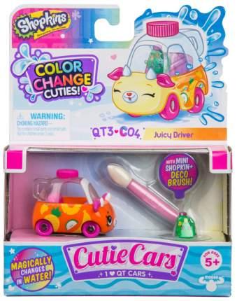 Машинка пластиковая Cutie Cars 57135/ast57107 сокр, Puff rusher меняющая цвет с кисточкой