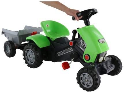 Каталка-трактор Полесье с педалями Turbo-2 с полуприцепом Зеленый
