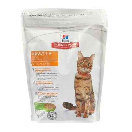 Сухой корм для кошек Hill's Science Plan Optimal Care, кролик, 0,4кг