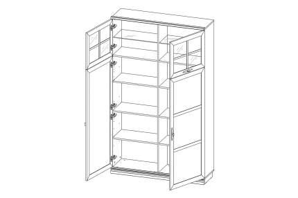 Платяной шкаф Hoff Кредо 80332834 120,1x35,8x202,45, валенсия