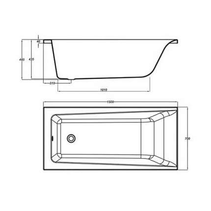 Акриловая ванна Cersanit WP-LORENA*150-W