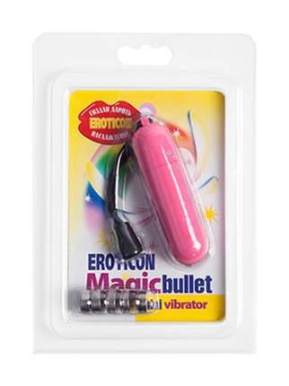 Вибропуля Eroticon со шнурком розовый 7 см