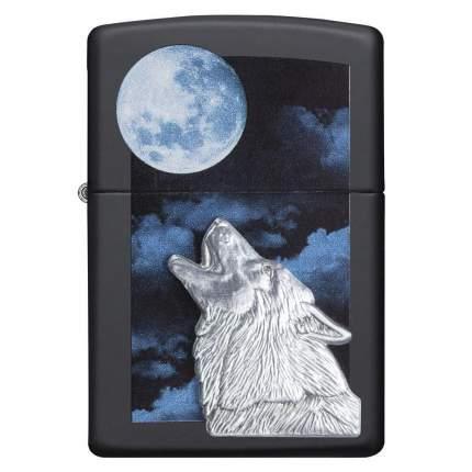 Зажигалка Zippo Howling Wolf Black Matte