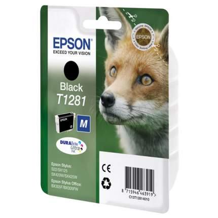 Картридж для струйного принтера Epson T1281 (C13T12814010), черный, оригинал