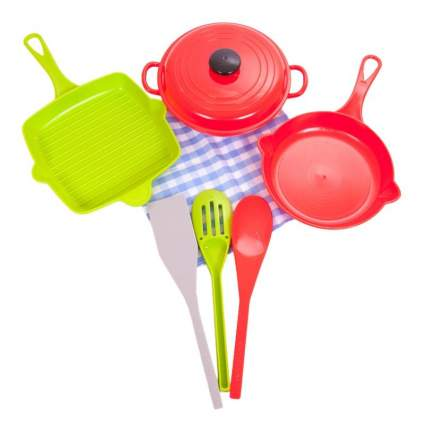 Помогаю маме. Набор посуды для кухни в сетке pt-00561, wk-b9747
