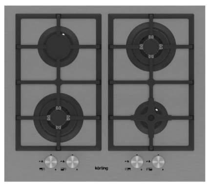 Встраиваемая варочная панель газовая Korting HG 665 C2 TX Silver