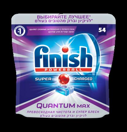 Таблетки для посудомоечной машины Finish quantum блеск  и защита max 54 штуки