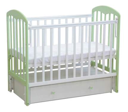 Кровать-маятник детская Фея 328 Белая-Мята
