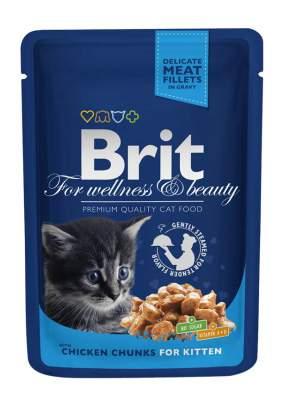 Влажный корм для котят Brit Premium, курица, 24шт, 100г