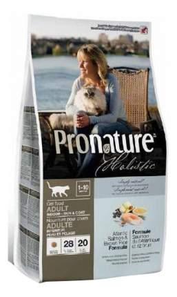Сухой корм для кошек Pronature Holistic Skin & Coat, для кожи и шерсти, лосось, рис,0,34кг