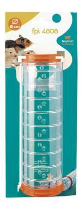 Тоннель для грызунов Ferplast пластик, 6х21 см, цвет прозрачный, оранжевый