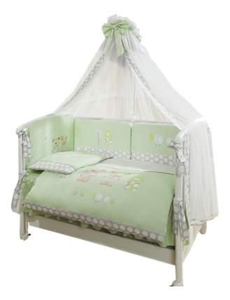 Комплект в кроватку Perina Венеция Лапушки 7 предметов салатовый (В7-02.1)