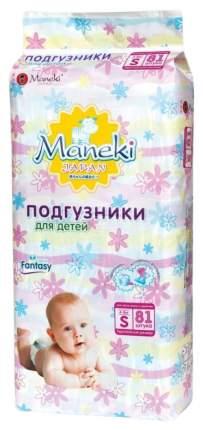 Подгузники Maneki Смешарики S (4-8 кг), 81 шт.