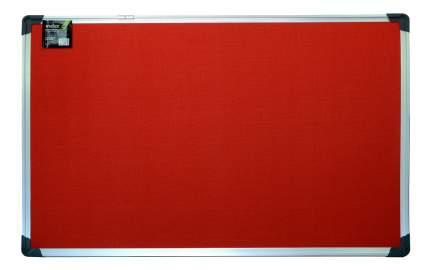 Доска Index текстильная в алюминиевой рамке красная, 90 х 120 см