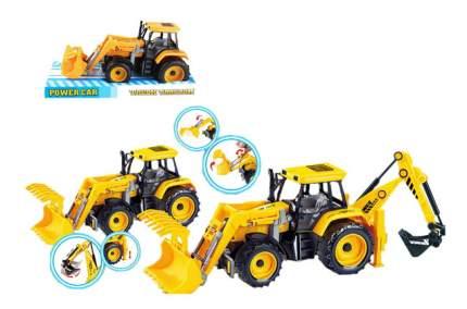 Трактор Power Car желтый