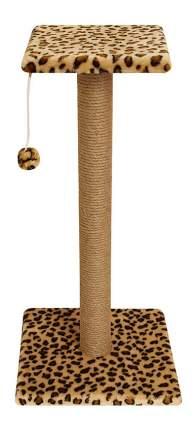 Когтеточка Гамма Стойка №16 длинная с полочкой, игрушкой (цветной мех)
