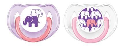 Набор детских пустышек Philips Avent Слоны с полугода - 2 шт.