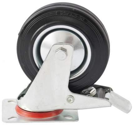 Колесо поворотное с тормозом d-200мм, крепление платформенное // СИБРТЕХ 68724