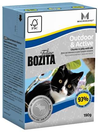 Консервы для кошек BOZITA Feline Outdoor& Active, с лосем в желе, 190г