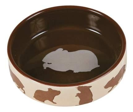 Одинарная миска для грызунов TRIXIE, керамика, бежевый, коричневый, 0.08 л