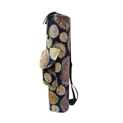 Чехол для йоги RamaYoga Wood, черный/коричневый