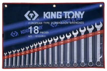 Набор комбинированных ключей KING TONY 6-24 мм 18 предметов 1218MR01