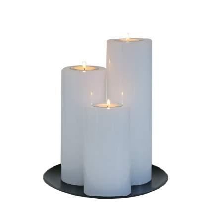 Композиция из свечей Модена белая 25 см 180521