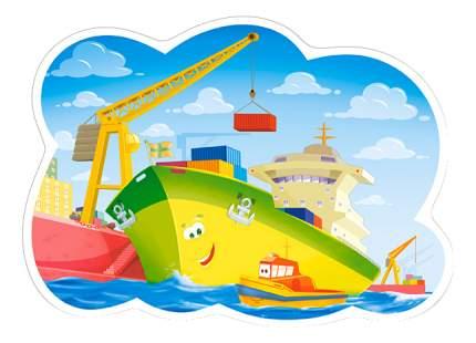 Castorland Пазл Кастор 12 maxi контур день в гавани В-120130, 12 элементов