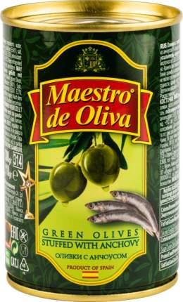 Оливки Maestro de Oliva с анчоусом 300 г