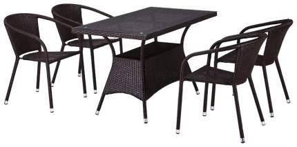 Комплект мебели Afina Garden T198D/Y137C-W53 Brown (4+1)