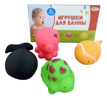 Игрушки для ванной 4 водных обитателя Играем вместе В1298335