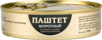 Паштет шпротный Пелагус из кильки и салаки горячего копчения 170 г