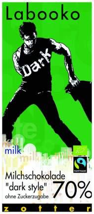 Шоколад молочный Zotter 70% в темном стиле без сахара 70 г