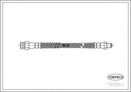 Шланг тормозной Corteco 19025914