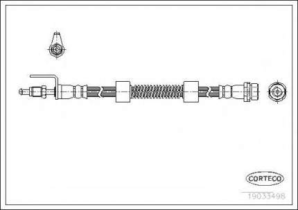 Шланг тормозной системы Corteco 19033498