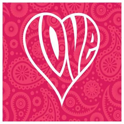 Постер из ткани вертикальный «Цветочная любовь в сердце» JoyArty tp_14922