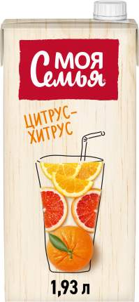 Напиток сокосодержащий Моя Семья цитрусовый микс 2 л