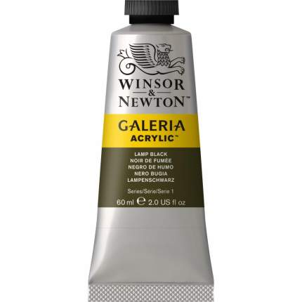 Акриловая краска Winsor&Newton Galeria черный ламповый 60 мл