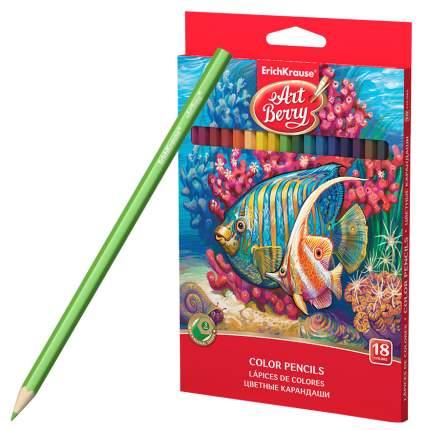 Карандаши цветные Erich Krause 18 сolor pencils