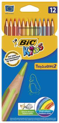 Карандаши цветные BIC Тропикулер 2 12 шт.