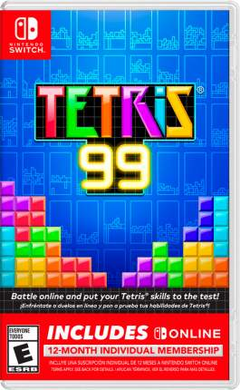 Игра для Nintendo Switch Tetris 99 + Big Block DLC + NSO