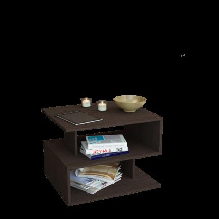 Журнальный столик MFMaster Арто-22 МСТ-СЖА-22-ВМ-16 59х39х42,8 см, венге