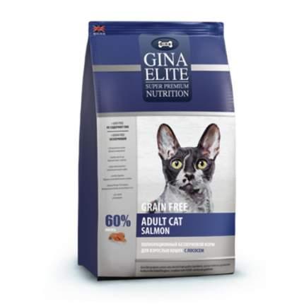 Сухой корм для кошек GINA ELITE GF CAT, беззерновой, лосось, 15кг